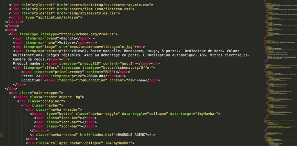 Exemple de données structurées - SEO du site