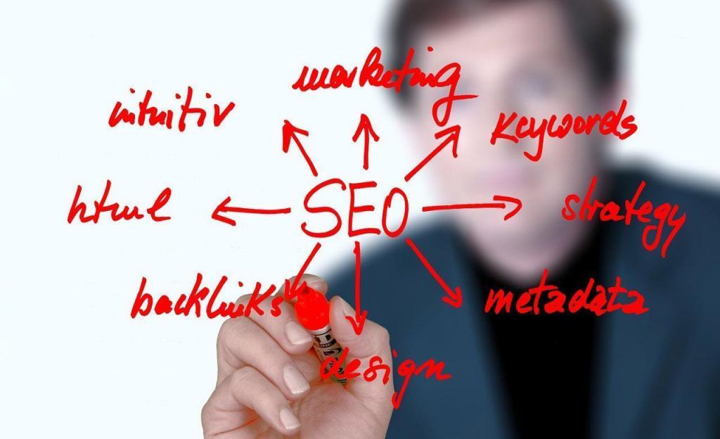 Consultant SEO décrit la stratégie d'optimisation pour le référencement Google
