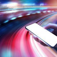 Illustration de vitesse sur smartphone